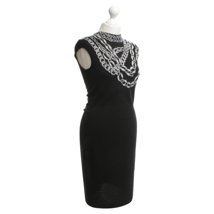 Alexander McQueen Figurbetontes knitted dress in black