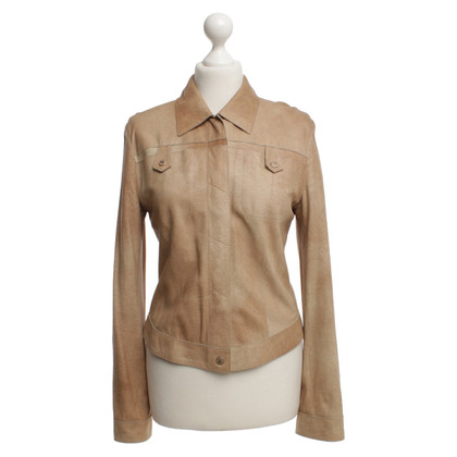 Marc Cain Leather jacket in beige