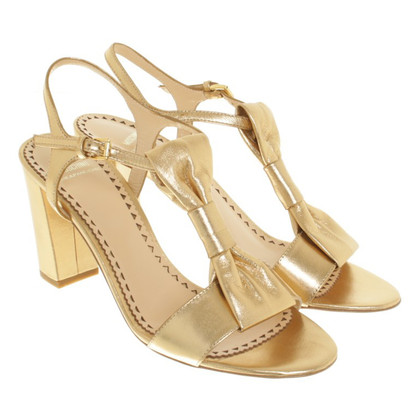 Moschino Cheap and Chic Golden sandals