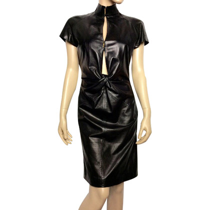 Saint Laurent Black leather dress
