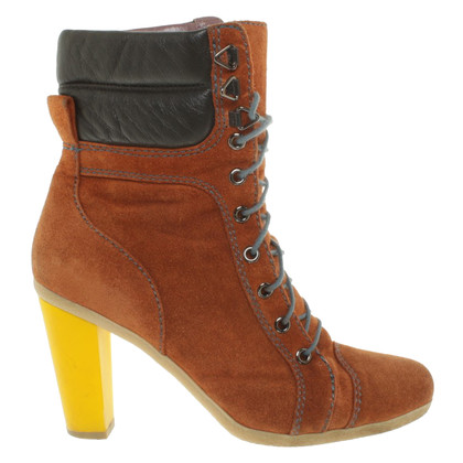 Pollini Yellow heel booties