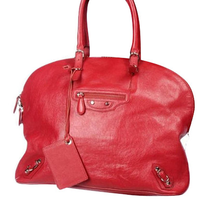 "Balenciaga ""City Bag"" in red"