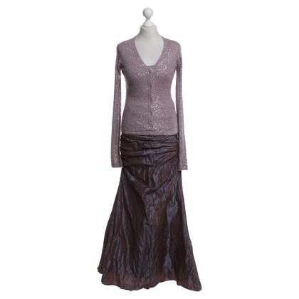 Barbara Schwarzer 3-piece gala outfit in purple