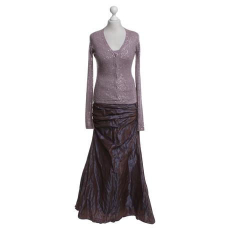 Barbara Schwarzer 3-teiliges Gala-Outfit in Violett Violett