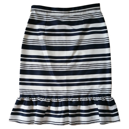 Red Valentino Striped skirt with flounces
