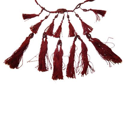 Isabel Marant Collier de perles et pompons