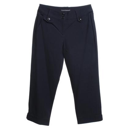 Luisa Cerano pantalon bleu foncé 3/4 longueur