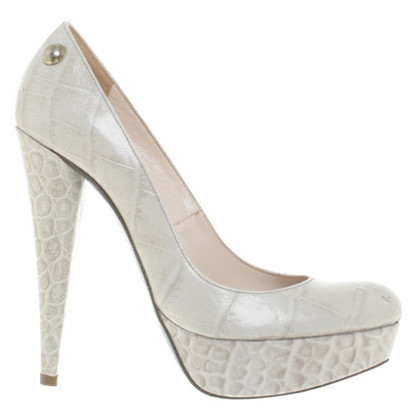 Patrizia Pepe Plateau pumps in reptile finish