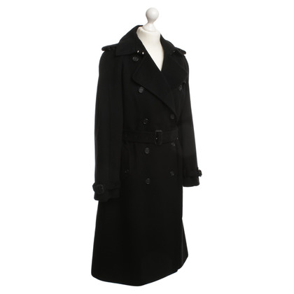 Burberry Wool trench coat in black