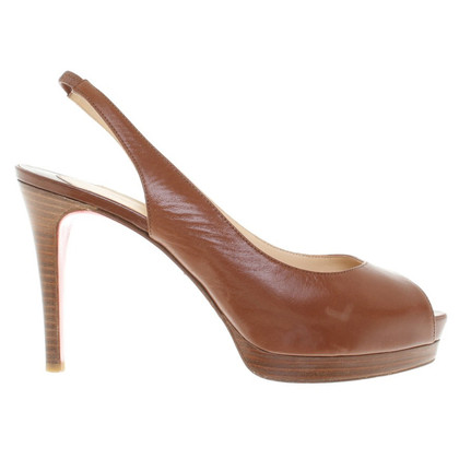 Christian Louboutin Peeptoes a Brown