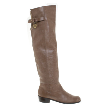 Patrizia Pepe Thigh high boots in Taupe/Brown