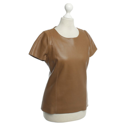 Maje Brown leather shirt