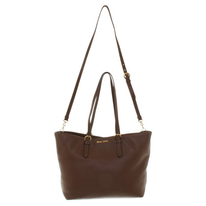 Miu Miu Leather shopper in brown