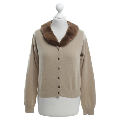 Aida Barni Cashmere cardigan with fur