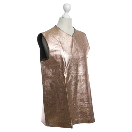 Other Designer Cedric Charlier - top with metallic effect
