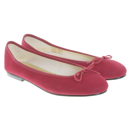 French Sole Ballerinas in Rot