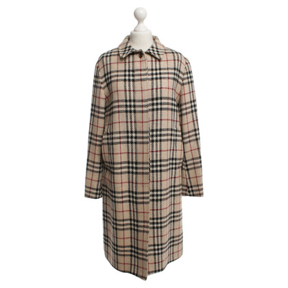 Burberry Wollmantel mit Nova Check Muster