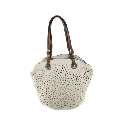 Marni borsa in pelle color crema