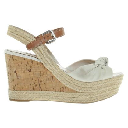 Prada Cork sole wedges