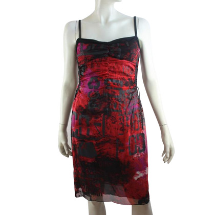Marc Cain zijden jurk met koppen