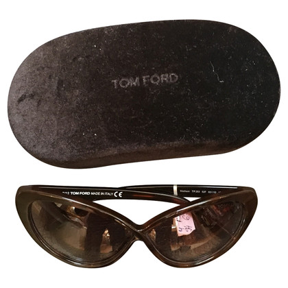 Tom Ford Madison donker Havana kat bril
