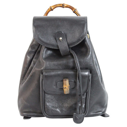 Gucci Gucci bamboo backpack leather bag
