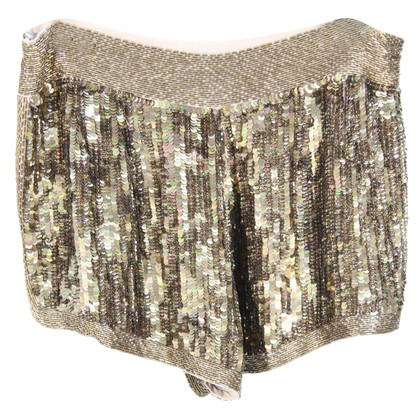 French Connection Paillettenshorts in Gold