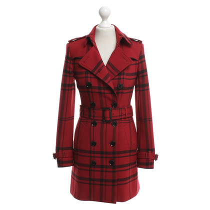 Burberry Trench coat with check pattern
