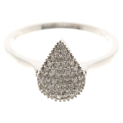 Bliss Witgouden ring '' drop ''
