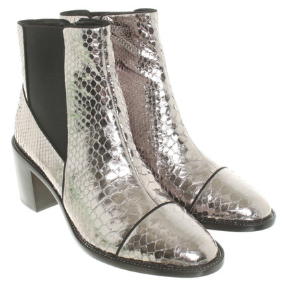 Alexandre Birman Leather Bootees