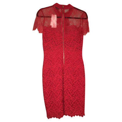 Sandro Rode kanten jurk