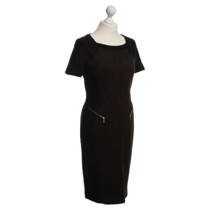 Karen Millen Dress in Black/Brown