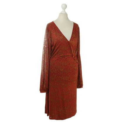 Antik Batik Vestito a portafoglio con reticolo