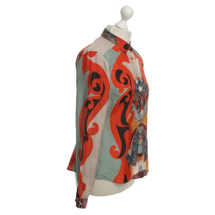 Etro Silk blouse with colorful patterns