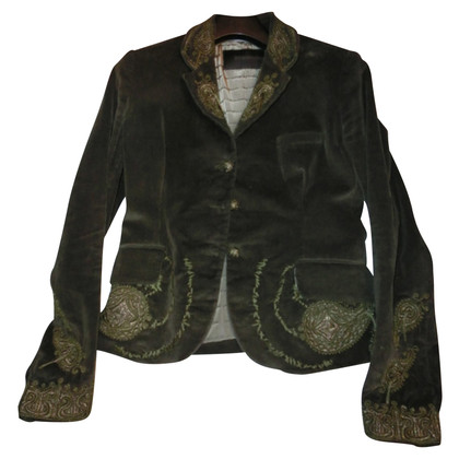 Ermanno Scervino Velvet jacket with embroidery