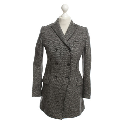 Dolce & Gabbana Coat with herringbone pattern