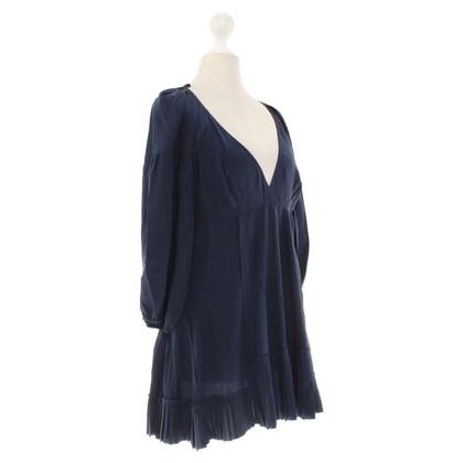 Prada Silk top in dark blue