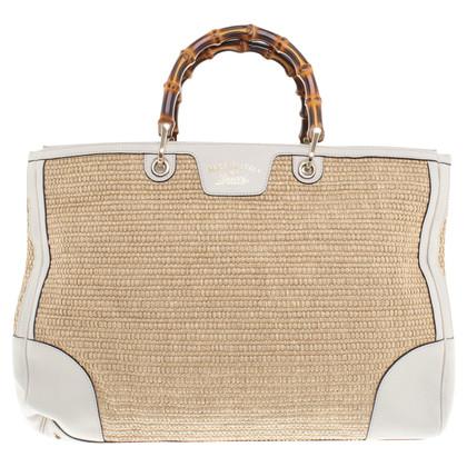 Gucci Handtasche mit Bastbesatz