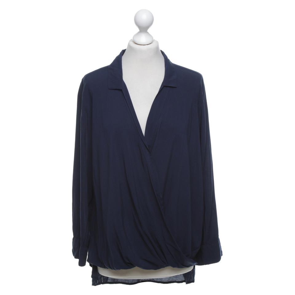 Velvet Blusen-Shirt in Dunkelblau