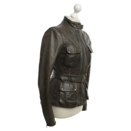 Belstaff Leren jas in used-look