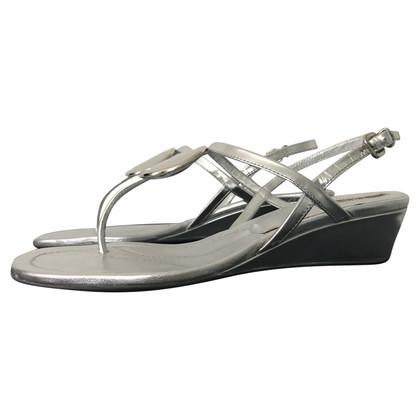 Prada Silver-colored sandals