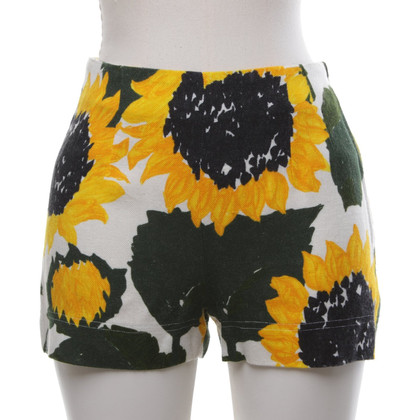 Moschino Cheap and Chic Short with sunflower print