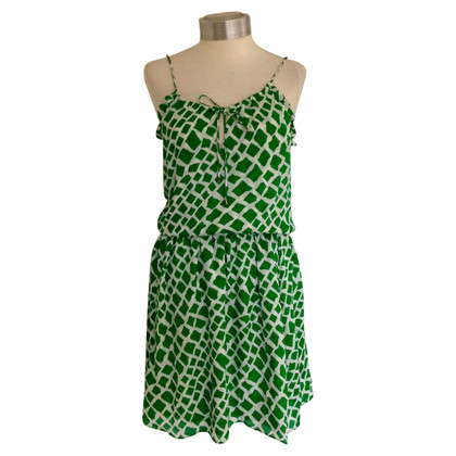 Parker Green Silk mid-length dress