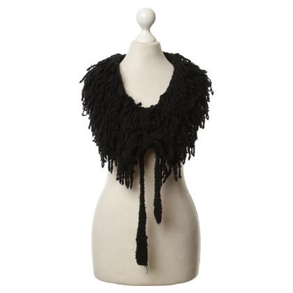 Marc Cain Fringe scarf in black