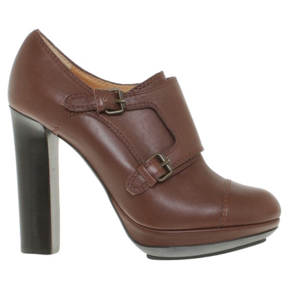 Lanvin Leather-pumps in brown