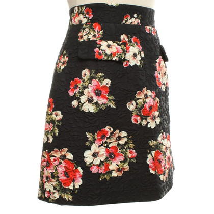 Dolce & Gabbana Jacquard skirt with floral pattern