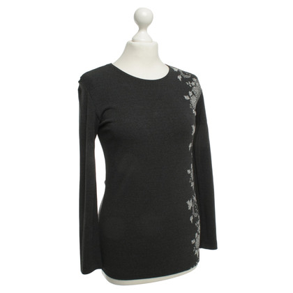 Marc Cain Graues Shirt mit Muster