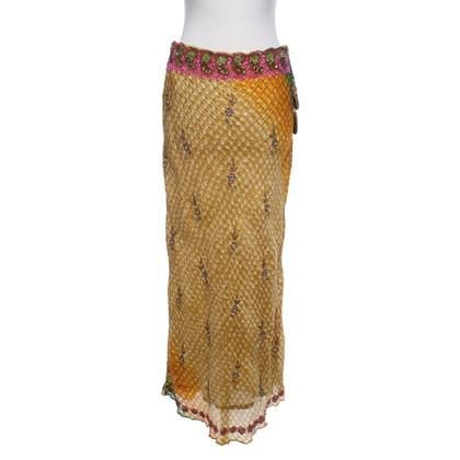 Andere merken Malvin - Geborduurde zijden rok