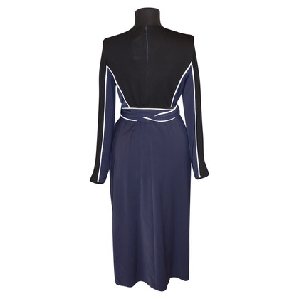 Issa Wickel-Kleid mit Materialmix
