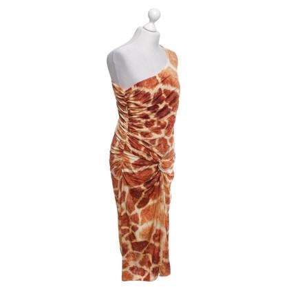 Max Mara Een schouder jurk met patroon